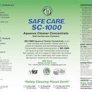 Etiqueta SC-1000 Aqueous Cleaner