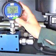 sika digital pressure gauge at site